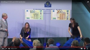 ECB video of the unveiling ceremony of new banknotes 17 Sep 2018